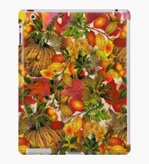 Autumn Fall Leaves Pumpkin Thanksgiving Seasonal Woodland Collage iPad Case/Skin