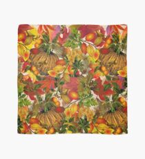 Autumn Fall Leaves Pumpkin Thanksgiving Seasonal Woodland Collage Scarf