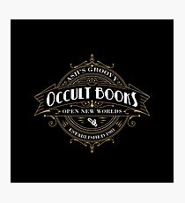 Ash's Occult Books Photographic Print