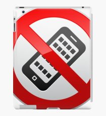 No Activated Mobile Phones Prohibition Warning Sign  iPad Case/Skin