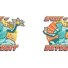 Pop Comic Series: Spirit of Detroit by Elena Maria