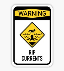 RIP Currents Warning Sign Sticker