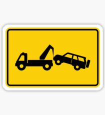 Tow Away No Parking Warning Sign  Sticker