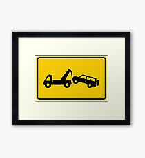 Tow Away No Parking Warning Sign  Framed Print