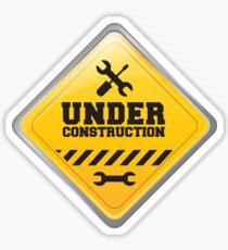 Under Construction Warning Sign  Sticker