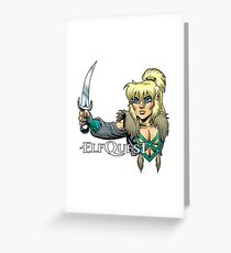 Elfquest: Cutter and New Moon Greeting Card