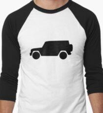 Mercedes-Benz  G Wagon - side - black Men's Baseball ¾ T-Shirt
