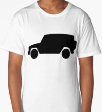 Mercedes-Benz  G Wagon - side - black Long T-Shirt