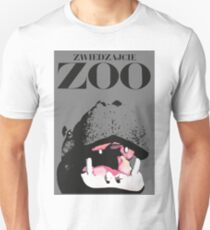 1967 Poland Zoo Hippopotamus Advertising Poster T-Shirt