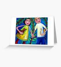ORPHEUS  AND  EURYDICE  DANCING  WITH  THE  LOVEBIRD Greeting Card