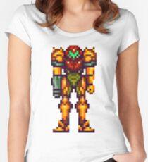 16-bit Samus Aran Women's Fitted Scoop T-Shirt