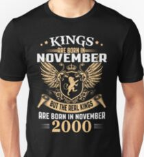 Legends Are Born In November 2000 T-Shirt