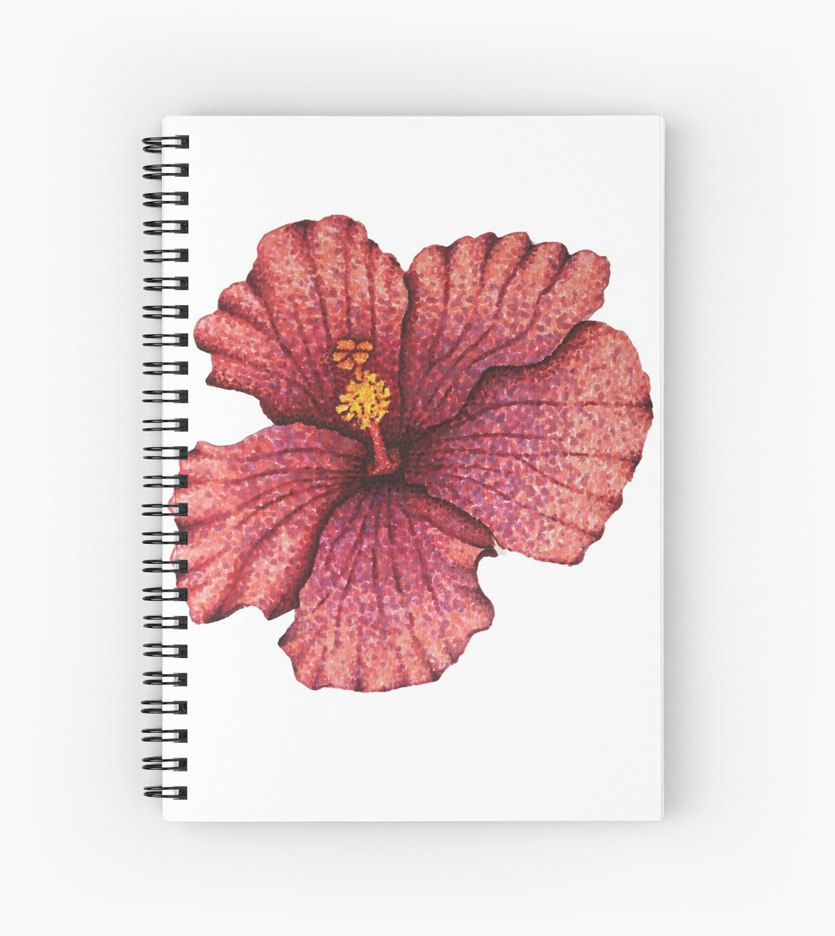 Hawaiian Hibiscus Flower Drawing Spiral Notebooks By Nicole Owens