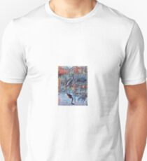 Heron at Okefenokee in Reflection T-Shirt