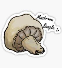 Watercolor Mushroom Botanical chart  Sticker