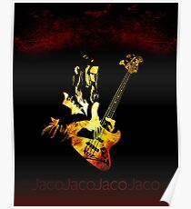 Jaco Pastorius Flame Poster