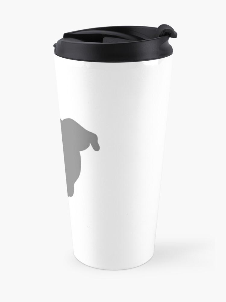 Alternate view of Grey Pittie Travel Mug