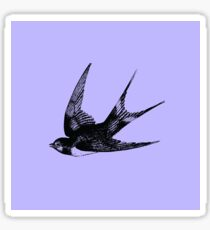Swallow on Blue Sticker