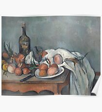 Paul Cézanne - Still Life with Onions (1898) Poster