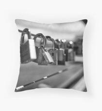 locks at lake Throw Pillow
