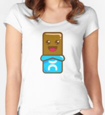 Happy Chocolate Bar Women's Fitted Scoop T-Shirt