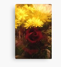 Zoomed Rose Canvas Print