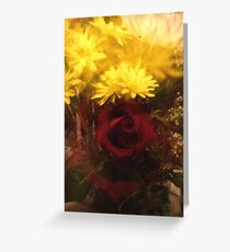 Zoomed Rose Greeting Card
