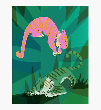 jungle tigers Photographic Print