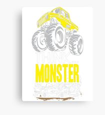 Think Monster Truck Yell Canvas Print