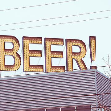 BEER sign by schoonerversity