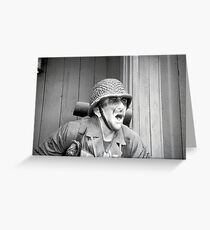 Army Barracks Greeting Card