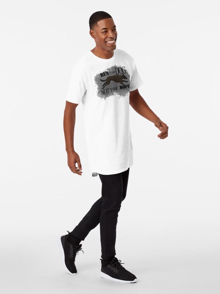 Alternate view of Run Your Dog, Not Your Mouth Dutch Shepherd medium Long T-Shirt