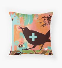 Bird Aid Throw Pillow