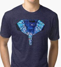 Elephant Line Geometry (Paris Eiffel) Tri-blend T-Shirt