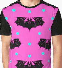 Hallaween circular ornament with bats Graphic T-Shirt
