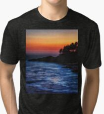 Dusk Stirred Depoe Bay Tri-blend T-Shirt