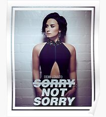 Demi Lovato Sorry Not Sorry Poster