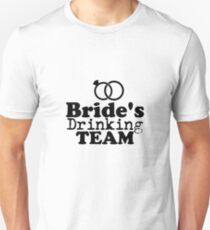 Bride's Drinking Team  Groom Fuuny Party T-Shirt