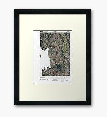 USGS Topo Map Washington State WA Kirkland 20110504 TM Framed Print