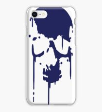 SKULL BLOOD SPLATTER METAL PUNK Vector iPhone Case/Skin