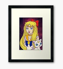 Sailor Venus and Artemis Framed Print