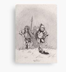 Advancing skinny orcs Canvas Print