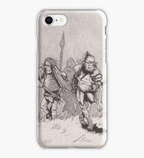 Advancing skinny orcs iPhone Case/Skin
