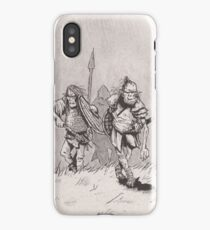 Advancing skinny orcs iPhone Case/Skin