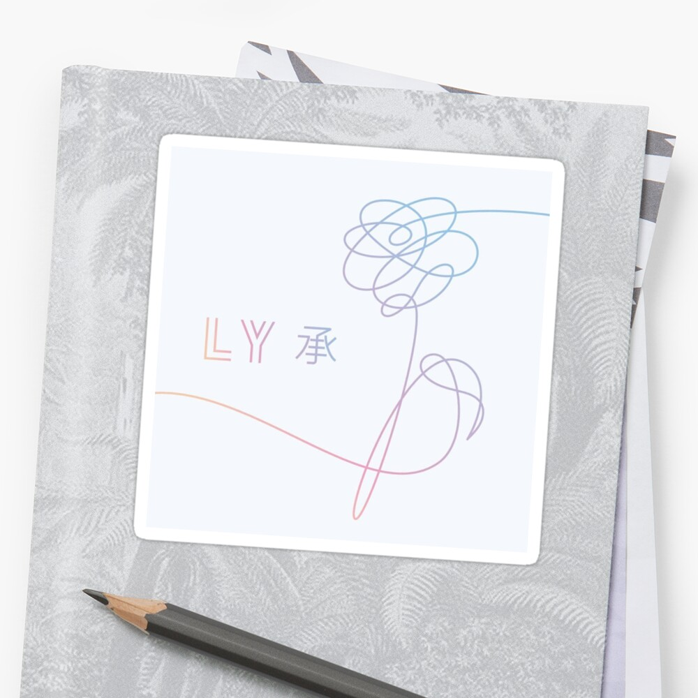 Bts love yourself her album cover stickers by jahnvi modi bts love yourself her album cover by jahnvi modi solutioingenieria Choice Image