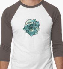 Geometrics: Rose (Sampled Eye) Geometry Men's Baseball ¾ T-Shirt