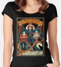 Sanderson Sisters Vintage Tour Poster Women's Fitted Scoop T-Shirt