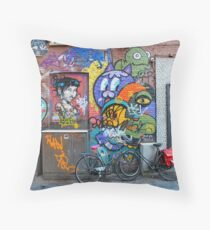 Amsterdam Street Art Throw Pillow
