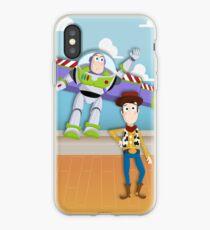 Vinilo o funda para iPhone Buzz y Woody