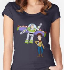 Buzz and Woody Women's Fitted Scoop T-Shirt